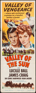 """Movie Posters:Western, Valley of the Sun (RKO, R-1953). Insert (14"""" X 36""""). Western.. ..."""