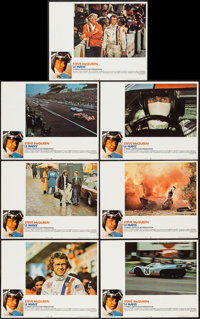 "Le Mans (National General, 1971). Lobby Cards (11) (11"" X 14"") & Uncut Pressbook (Multiple Pages, 8.5&..."
