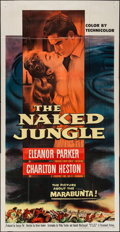 "Movie Posters:Adventure, The Naked Jungle (Paramount, 1954). Three Sheet (41"" X 79""). Adventure.. ..."