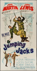 "Movie Posters:Comedy, Jumping Jacks (Paramount, 1952). Three Sheet (41"" X 79""). Comedy.. ..."