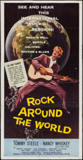 "Movie Posters:Rock and Roll, Rock Around the World (American International, 1957). Three Sheet(41"" X 78""). Rock and Roll.. ..."