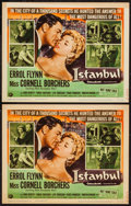 "Movie Posters:Adventure, Istanbul (Universal International, 1957). Title Lobby Cards (2)(11"" X 14""). Adventure.. ... (Total: 2 Items)"