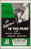 "Movie Posters:Foreign, It Happened in the Park (Ellis Films, 1957). One Sheet (27"" X 41""). Foreign.. ..."