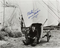 "A Charlie Chaplin Signed Black and White Photograph from ""The Circus,"" Circa 1970s"