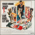 "Movie Posters:James Bond, Live and Let Die (United Artists, 1973). Six Sheet (77.5"" X 77"").James Bond.. ..."