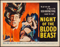 "Movie Posters:Horror, Night of the Blood Beast (American International, 1958). Half Sheet (22"" X 28""). Horror.. ..."