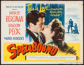 "Movie Posters:Hitchcock, Spellbound (Eagle Lion, R-1955). Half Sheet (22"" X 28""). Hitchcock.. ..."