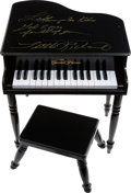 Music Memorabilia:Autographs and Signed Items, Little Richard Signed Mini Piano. ...