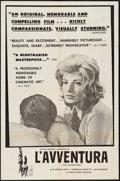 """Movie Posters:Foreign, L'Avventura (Janus Films, 1961). One Sheet (27"""" X 41""""). Foreign.. ..."""