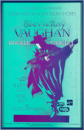 Music Memorabilia:Autographs and Signed Items, Stevie Ray Vaughan Poster Signed By Artist Nels Jacobson (1990)....