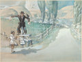 """Movie/TV Memorabilia:Original Art, A Pre-Production Concept Painting by Jack Martin Smith from """"The Wizard of Oz.""""..."""