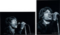 Music Memorabilia:Photos, Rolling Stones - Mick Jagger Black and White Oversized LimitedEdition Photographs by Ken Davidoff.... (Total: 2 Items)