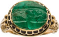 Estate Jewelry:Rings, Antique Emerald, Gold Ring. ...