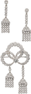 Estate Jewelry:Suites, Diamond, White Gold Jewelry Suite. ...