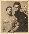 Music Memorabilia:Autographs and Signed Items, Simon and Garfunkel Signed Photo. ...
