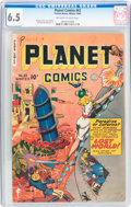 Golden Age (1938-1955):Science Fiction, Planet Comics #63 (Fiction House, 1949) CGC FN+ 6.5 Off-white towhite pages....