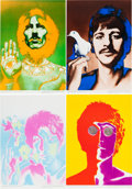 Music Memorabilia:Posters, Beatles Set of Richard Avedon Posters (1967).... (Total: 4 Items)