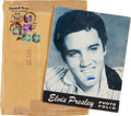 Music Memorabilia:Autographs and Signed Items, Elvis Presley Signed and Inscribed Photo File With Collection of Vintage Elvis Fan Items.. ...