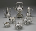 Silver Holloware, American:Tea Sets, An American Silver Tea Service. Tiffany & Co., New York, NY,Late Nineteenth Century. The seven piece set comprising a...(Total: 10 Items)