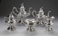 Silver Holloware, American:Tea Sets, An American Silver Tea Service. Ball, Tompkins & Black, NewYork, NY, Mid-Nineteenth Century. The set comprising a wat...(Total: 6 Items)
