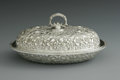 Silver Holloware, American:Entrée Dishes, An American Silver Covered Dish. Baltimore Sterling Silver Co.,Baltimore, MD, c.1895. The repousse dish and lid in a flor...(Total: 2 Items)