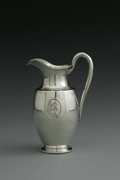 Silver Holloware, American:Creamers and Sugars, An American Silver Creamer. Mark of Tiffany & Co., New York, NY, Mid-Nineteenth Century. The creamer with medallions on ei...