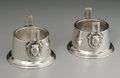 Silver Holloware, American:Open Salts, A Pair Of American Silver Open Salts. Wood & Hughes, New York,NY, Late Nineteenth Century. Monogram to the side W,... (Total:2 Items)