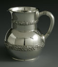 Silver Holloware, American:Pitchers, An American Silver Pitcher. Tiffany & Co., New York, NY, 1877.The pitcher with two decorative bands, commemoration to the...
