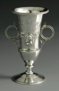 Silver Holloware, American:Vases, An American Silver Vase. Mark of Wood & Hughes, New York, NY,Late Nineteenth Century. The double-handled vase with a port...