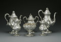 Silver & Vertu:Hollowware, An American Silver Tea and Coffee Service. Ball, Black & Co., New York, NY, Mid to Late Nineteenth Century. The floral rep... (Total: 6 Items Item)