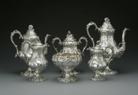 An American Silver Tea and Coffee Service Mark of Ball, Black & Co., New York, NY, Mid to Late Nineteenth Century  T...