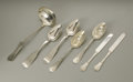 Silver Flatware, American:Knowles , A Group Of American Sterling And Coin Silver Serving Items.American, Nineteenth century. A group of sterling and coin sil...(Total: 7 Items)
