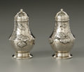 Silver Holloware, American:Other , A Pair Of American Silver Pepper Shakers. Tiffany & Co., NewYork, NY, 1877. The 'Lap Over Edge' pattern pepper shaker...(Total: 2 Items)