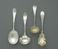 Silver Flatware, American:Gorham, Four American Silver Serving Spoons. Gorham, Providence, RI; Shreve& Co., San Francisco, CA; and Albert Coles, New York, NY...(Total: 4 Items)