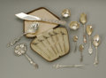 Silver Flatware, American:Shiebler, A Group Of Sterling Items. American and English, NineteenthCentury. A group of sterling items including a pair of leaf f...(Total: 17 )
