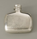 Silver Holloware, American:Flasks, An American Silver Flask. Gorham, Providence, RI, 1895. Thesterling silver flask with engraved fishing scene to obverse a...