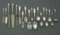 Silver Flatware, American:Gorham, An American Silver Flatware Set. Mark of Gorham, Providence, RI, 1908. The 'Chesterfield' pattern set includes twelve dinn... (Total: 118 Items)