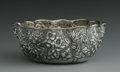 Silver Holloware, American:Bowls, An American Silver Bowl. Whiting Manufacturing, Providence, RI,Late Nineteenth Century. The floral repousse bowl with a c...
