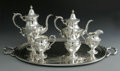 Silver & Vertu:Hollowware, An American Silver Tea And Coffee Service. Fisher Silversmiths, Inc., Jersey City, NJ, Mid-Twentieth Century. The set incl... (Total: 5 Items Item)