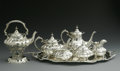 Silver Holloware, American:Tea Sets, An American Silver Tea And Coffee Service. Reed & Barton,Taunton, MA, Twentieth Century. The 'Hampton Court' service incl...(Total: 7 Items)