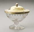 Silver Holloware, British:Holloware, An English Silver And Glass Sugar Dish. Joseph Willmore,Birmingham, England, 1817. The gilt sterling lid and rim, hal...(Total: 2 )
