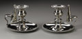 Silver Holloware, British:Holloware, A Pair Of Irish Silver Candlesticks. Daniel Egan, Dublin, Ireland,1812. The matching pair of candlesticks, engraved w... (Total: 6Items)