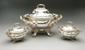 Silver Holloware, British:Holloware, An English Silver-Plate Tureen And Two Sauce Tureens. J. Dixon& Sons, Sheffield, England, Mid-Nineteenth Century. All...(Total: 6 Items)
