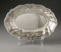 Silver Holloware, Continental:Holloware, A German Silver Tray. H.J. Wilim, Berlin, Germany, Late NineteenthCentury. The oval bread tray with fluted sides, eng...