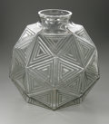 Art Glass:Lalique, A French Glass Vase. R. Lalique, 1925. The clear vase in the'Nanking' pattern, pale green patina, marked underside ...