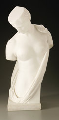 Fine Art - Sculpture, American:Other , Unknown. Sappho, after the antique. Marble. 23in. x 11in. x 9in..Unsigned. ...