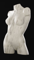 Fine Art - Sculpture, European:Antique (Pre 1900), Mark A. Perry (American). Didi, 1991. Marble. 30.5in. x 15in. x10in.. Signed and dated lower right. ...