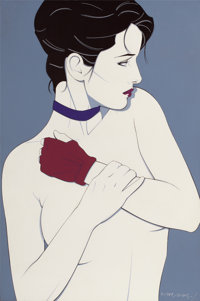 PATRICK NAGEL (American, 1945-1984) Untitled, 1983 Acrylic on canvas 30.125 x 20 in. Signed an
