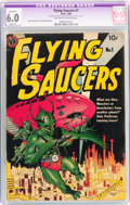Golden Age (1938-1955):Science Fiction, Flying Saucers #1 (Avon, 1950) CGC Apparent FN 6.0 Slight (P)Off-white to white pages....