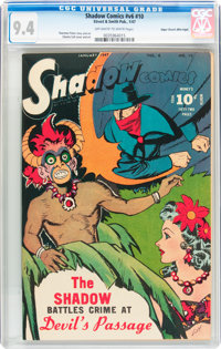 Shadow Comics V6#10 Mile High pedigree (Street & Smith, 1947) CGC NM 9.4 Off-white to white pages